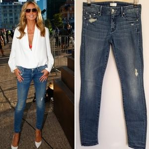 Mother The Looker Graffiti Girl Distressed Jeans